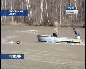 Спасение тонущей собаки (Нижегородская область)