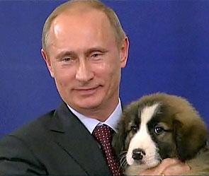 Путину подарили болгарского щенка
