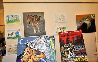 В Киеве открылась выставка рисунков про бездомных собак