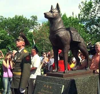 В Волгограде открыт единственный в России памятник собакам-подрывникам