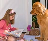 Собаки прививают детям любовь к книгам