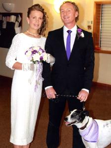Собака стала шафером на свадьбе