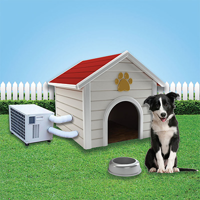 Кондиционер для собачьей будки (США)